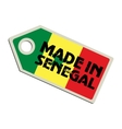 Made in Senegal vector image vector image