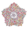 colorful mandala ornament for coloring book vector image