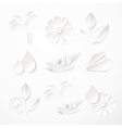 Set of paper icons vector image vector image