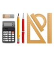 School tools for learning vector image
