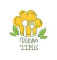 culinary hand drawn logo original design with vector image
