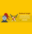 medieval knight banner horizontal concept vector image