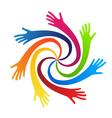 Swirly hands vector image