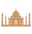 Taj-mahal temple flat vector image