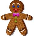 Gingerbreadman vector image vector image
