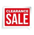 Clearance Sale patch speech bubble vector image