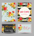 vintage summer flowers wedding invitation rsvp vector image vector image