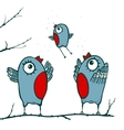 Happy Birds Family Teaching to Fly vector image
