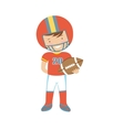 American Football player character vector image