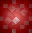 Abstract mosaic red background vector image