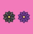 black and dark purple diamond flower vector image