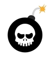 bomb with skull vector image