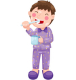 boy with toothbrush vector image
