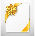 Celebration Paper Greet Card with Golden Festive vector image