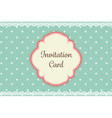 cute teal polka dot with lace elegant background vector image