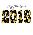 happy new year 2018 with gold balloon pattern vector image