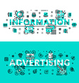Information and Advertising heading title web vector image