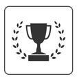 Trophy cup with Laurel wreath icon 3 vector image