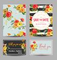 Vintage summer flowers wedding invitation rsvp vector image