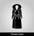 Women coat icon on grey background vector image