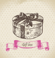 Gift box hand drawn vector image vector image