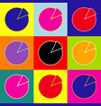finance graph sign  pop-art style colorful vector image