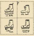 sport shoes doodle set vector image