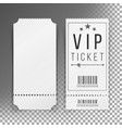 ticket template set blank theater cinema vector image vector image