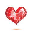 heart mosaic isolated symbol vector image vector image