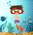 children in the sea vector image vector image