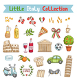 Little Italy collection vector image vector image