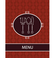 restaurant dinner menu vector image