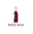 wine man concept design template vector image