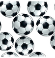 soccer balls seamless pattern vector image