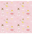 Cute Balerina Background - Seamless Pattern vector image
