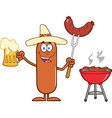 Mexican Sausage Cartoon vector image vector image