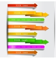 bookmarks and arrows vector image vector image