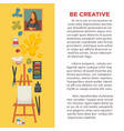artist painting tools and artistic materials vector image
