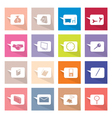 Collection of 16 Thought Bubbles Icons Banner vector image