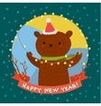 Cute bear Greeting card vector image