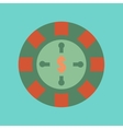 flat icon on background poker roulette casino vector image