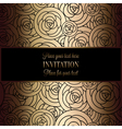 Invitation decorative golds 41 vector image