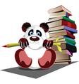 panda school vector image