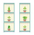 Pot Plants Gardening Concept vector image