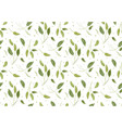 seamless pattern with sage light green leaves vector image