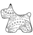scottish terrier coloring silhouette vector image
