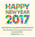 Patched nice Happy New Year 2017 greeting card vector image