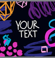 collection of trendy cards with geometric shapes vector image vector image