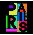 Paris City T-shirt Typography Graphics vector image