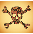 skull with colorful abstract elements vector image